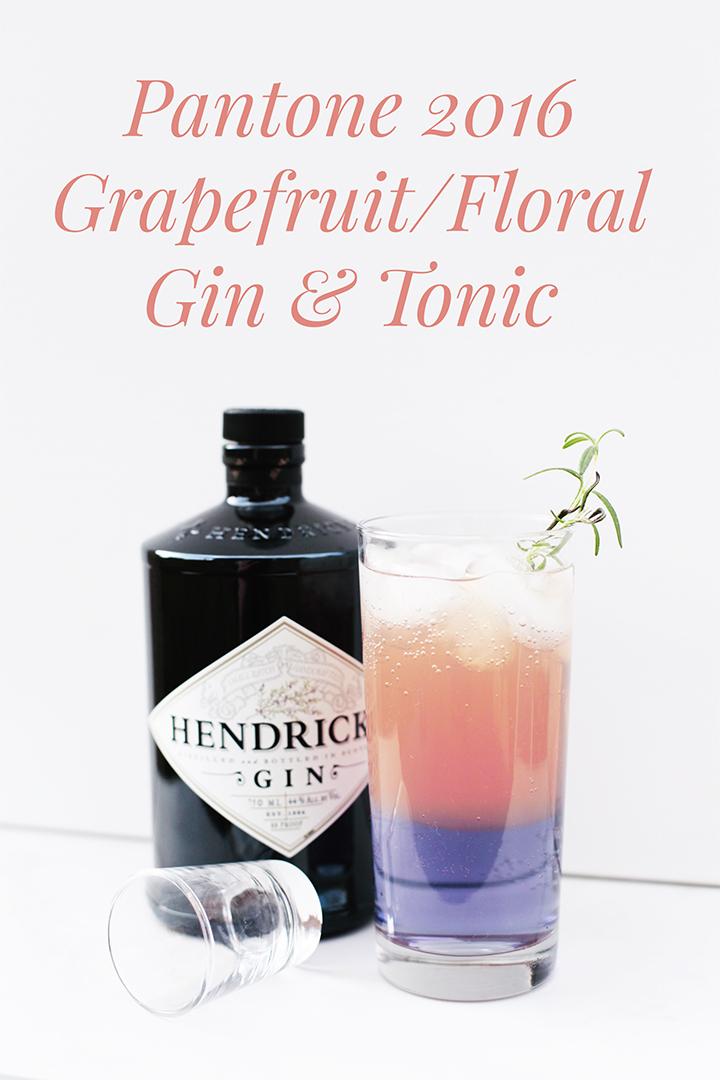 Pantone 2016 Grapefruit/Floral Gin & Tonic