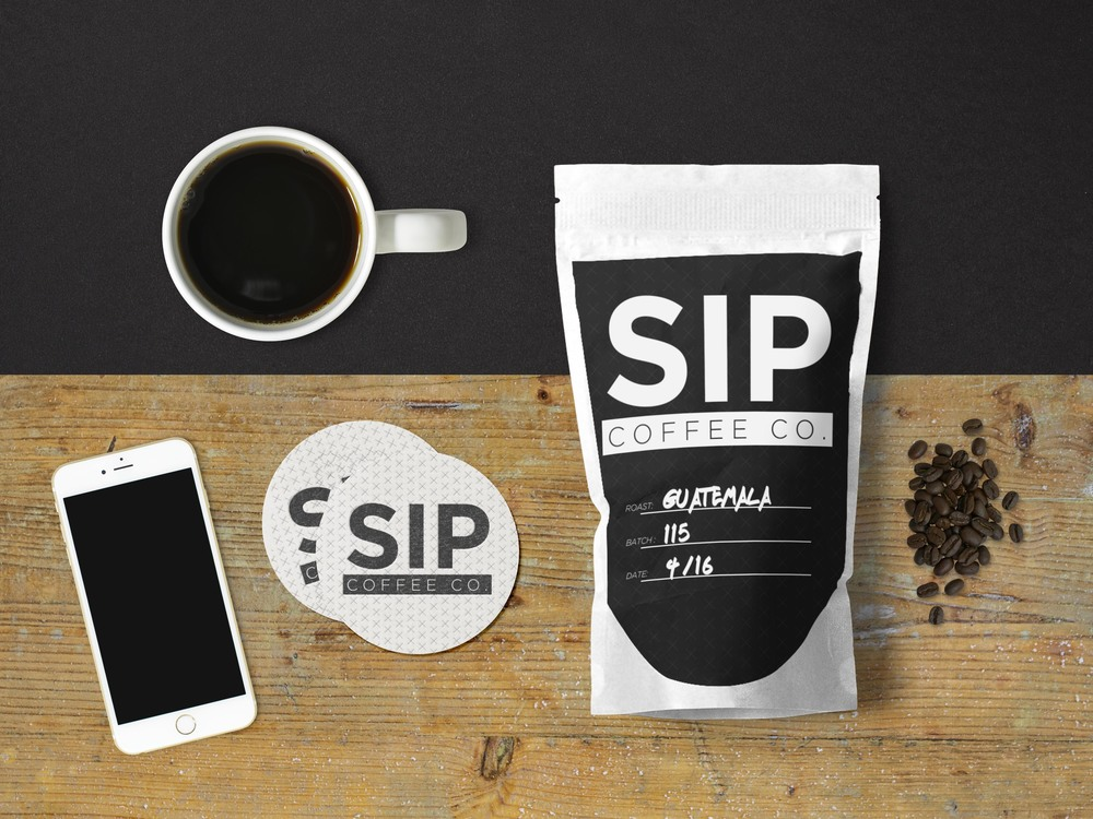 Sip Coffee Co. Bag Mockup