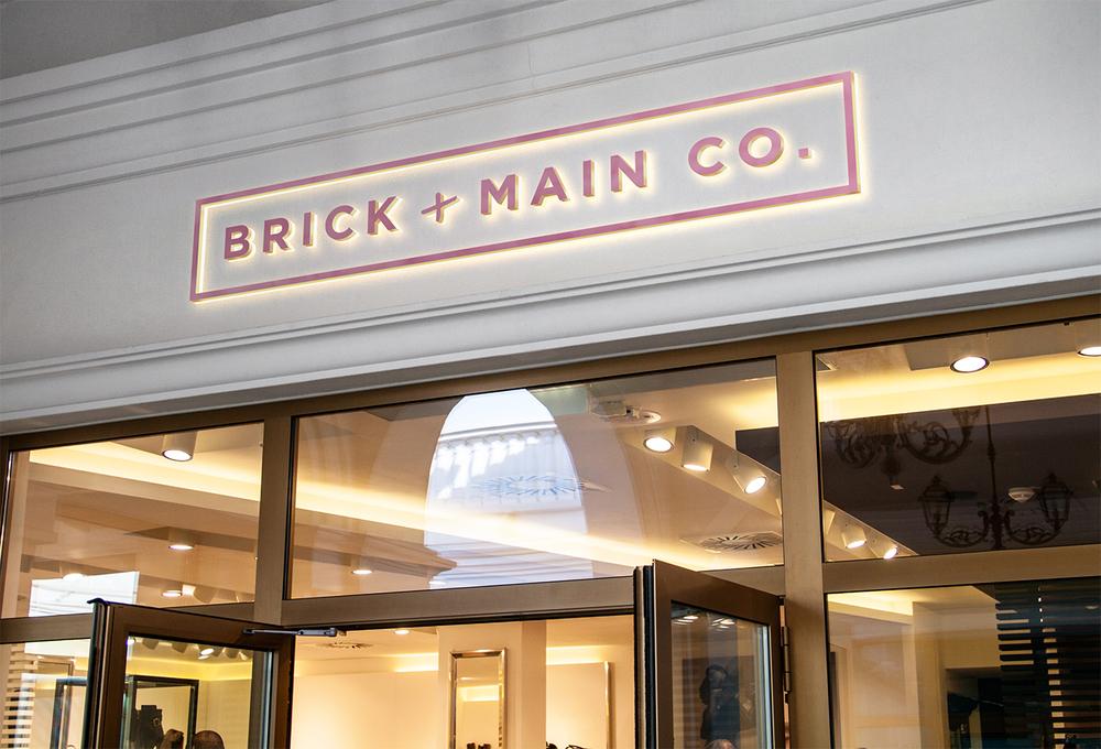 Brick & Main Co Storefront Mockup
