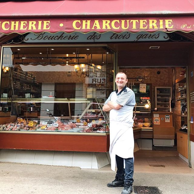 The best Butcher Shop in #viroflay and they are only 2 doors down from our apartment. Franz has incredible products to offer and is kind enough to put up with my rudimentary French. #bestfoodworld #frenchfood