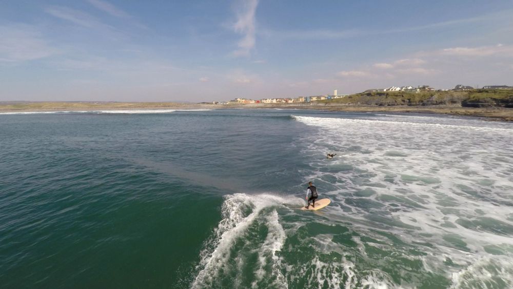 Ollie cruising towards Lahinch
