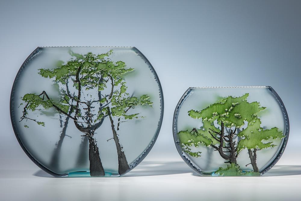 "flat fishbowls lg 7"" / m 5"""
