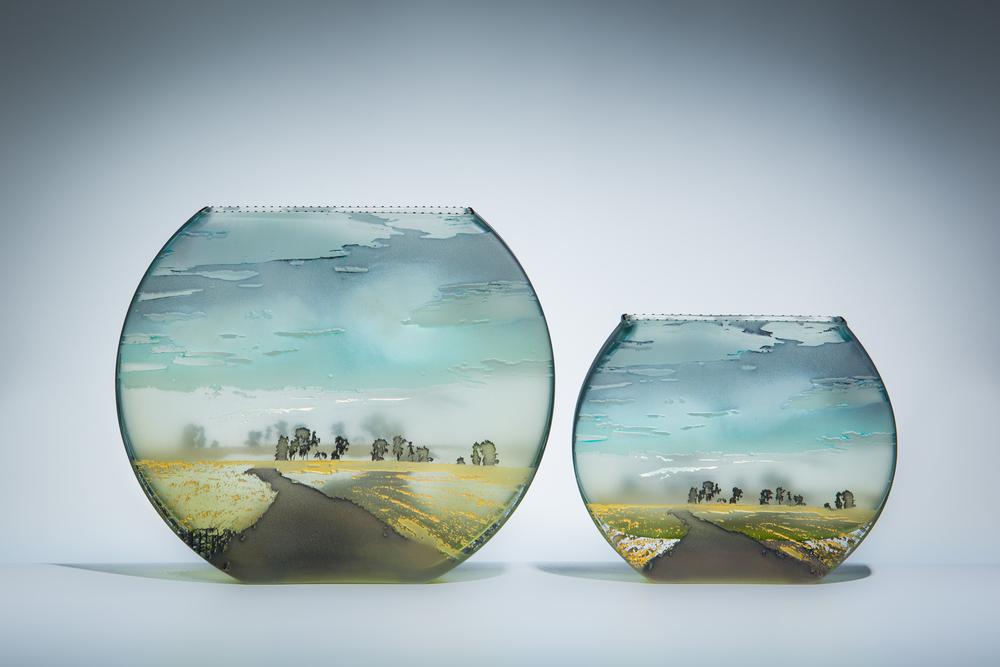 "flat fishbowl lg 7"" / m 5"""