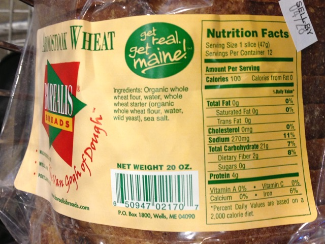 "This bread appears to be an authentic sourdough bread, even though it doesn't say the word ""sourdough"" on the label."