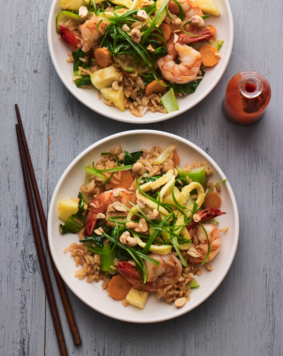 Shrimp Fried Rice is a beautiful, tasty and filling low-FODMAP meal.