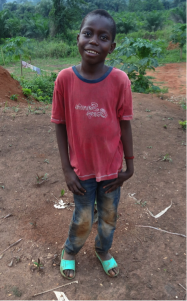 "Dieu Mbado is 12 years old, he was born in Kinshasa. When I asked him what he remembers about  he immediately withdrew and looked down, shoulders hunched over. ""I remember waking up early in the morning to go find work so I could feed my siblings"" he says quietly.  Dieu says loves living at the center because he gets to go to school and he gets to eat. Dieu is in 3rd grade and his favorite subject to study is French. In his free time, he likes to play soccer, and when he is done with school, he dreams of becoming a pilot. Nothing particular inspired this dream but he says that when he sees the airplanes fly, it makes him happy. If he was a pilot, Dieu says that he would fly to the US to study.    Dieu asks that you would be praying for him to be smart."