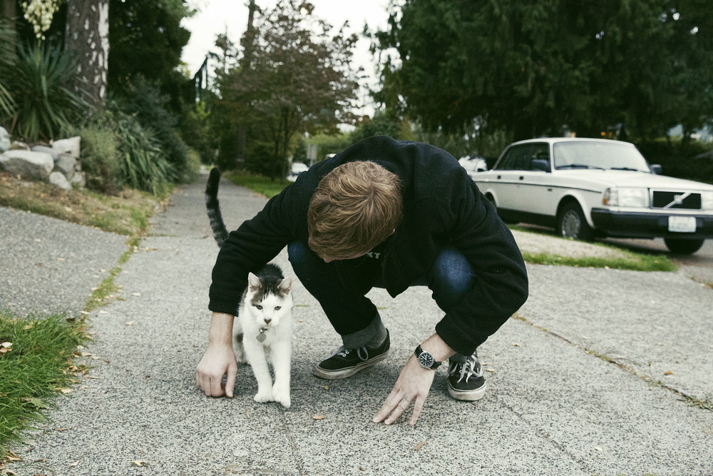 Skyler et un chat - Seattle, WA