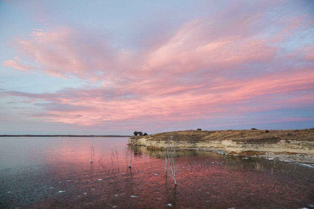 Cotton candy skies - Lake McConaughy, NE
