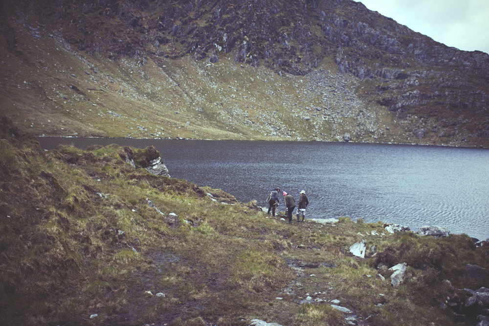 Some hikers 'round the Ring of Kerry, Ireland