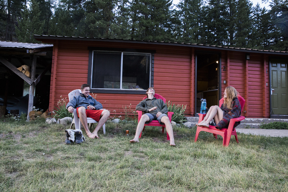 London, Skyler, and I after a beautiful day spent in Mazama, WA