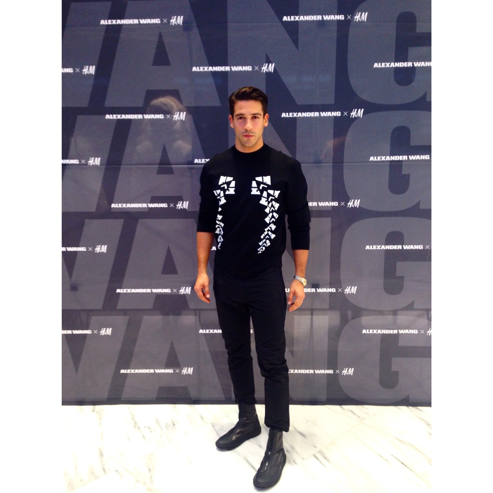 Franco V DJing for H&M x Alexander Wang