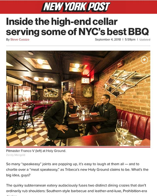 This small local paper thinks our little restaurant is pretty good😉😉😉 Thanks @nypost 🙏🏽