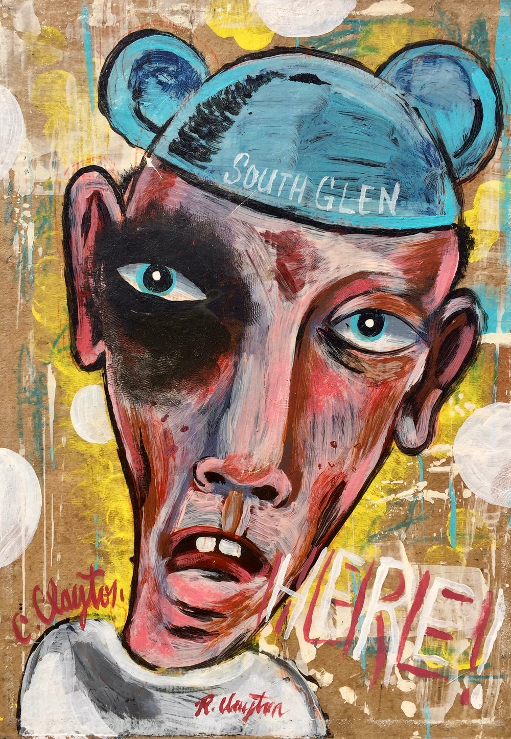 South Glen    Mixed media on wood panel  2002  10 x 13.5 In  $1,000.00