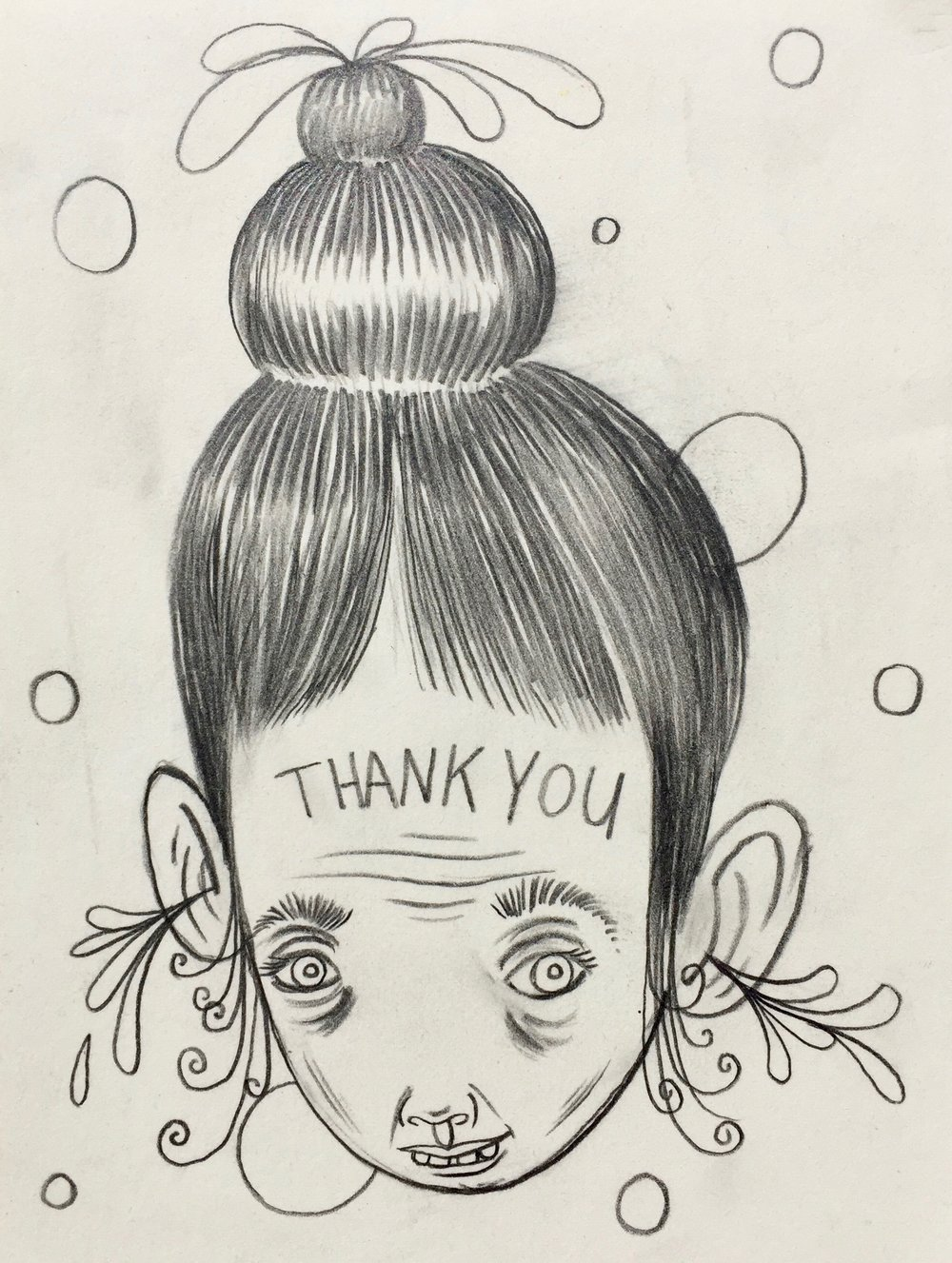 Thank You    Graphite on paper  2005  4.5 x 6 In  $500.00