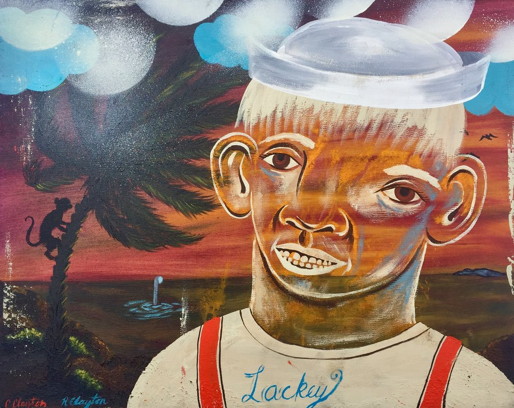 Lackey     Mixed media on canvas  2002  18 x 16 In  $3,800.00
