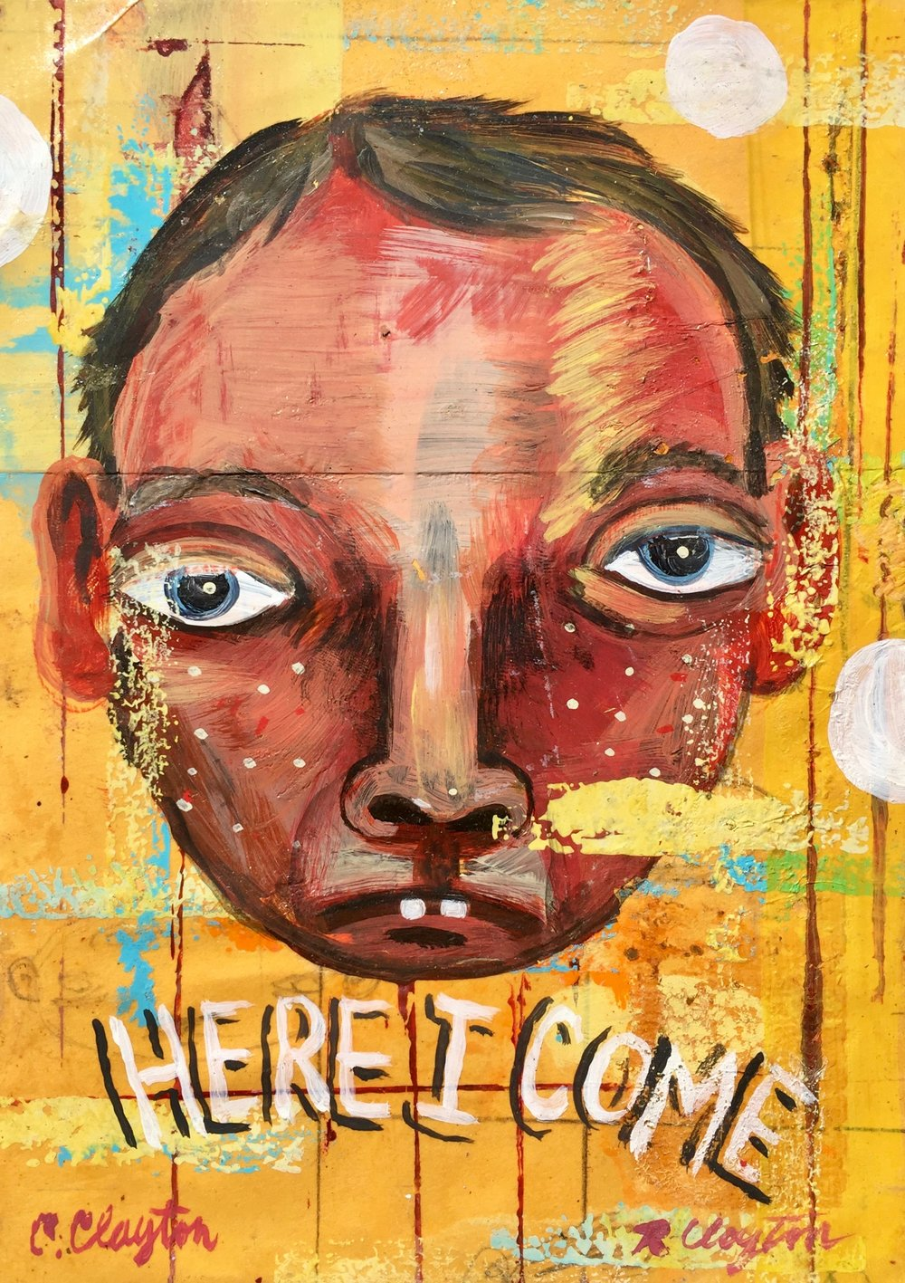 Here I come    Mixed media on paper  2002  5 x 7 In  $1,200.00