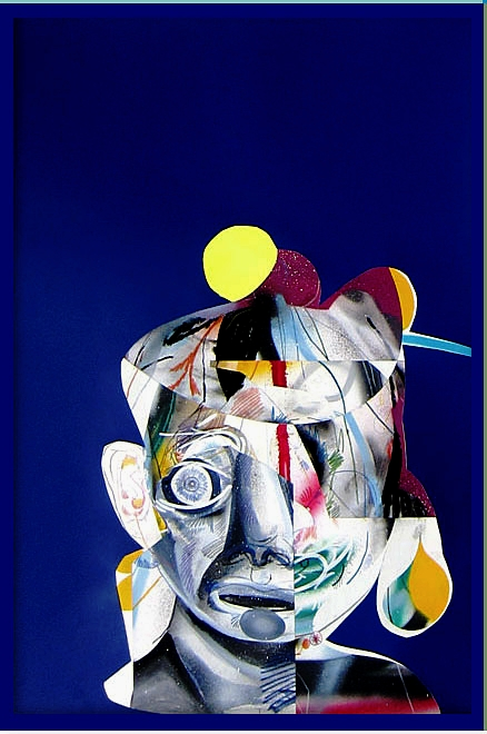 Complicated   (Dark blue)  Mixed media on paper  2013  25 x 37 In  $6,500.00