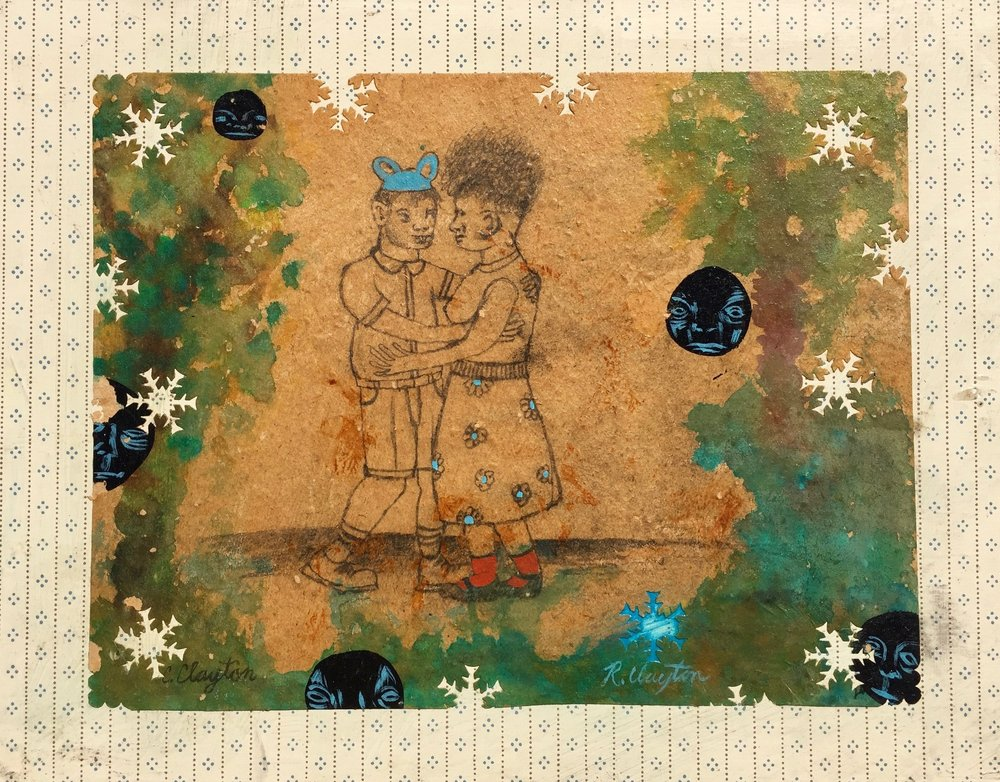 Dance with Me     Mixed media on wood panel  2001  14 x 11 In  $2800.00
