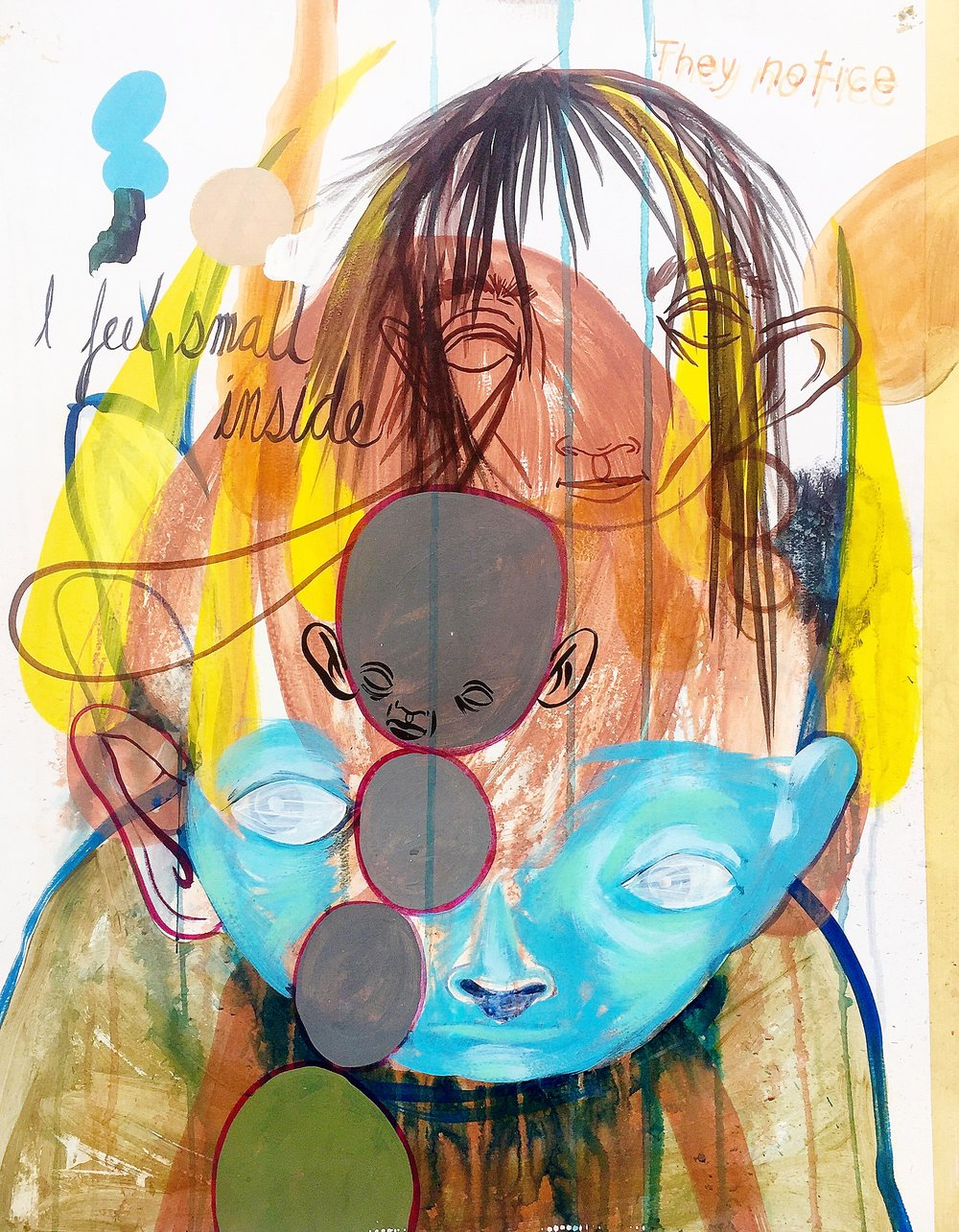 They Notice     Mixed media on paper  2005  19 x 24 In  $4,500.00