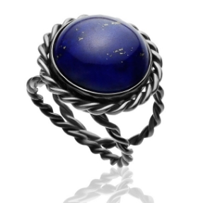 Anel San Vito II   Prata com ródio negro e Lapis Lazuli  R$ 450,00  Cod. LMALANSV2