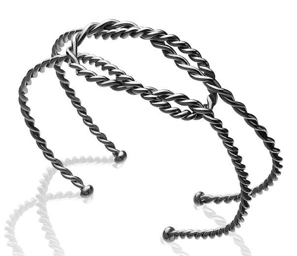 Bracelete Nodo Prata com ródio negro R$ 360,00 Cod. LMALBRANO