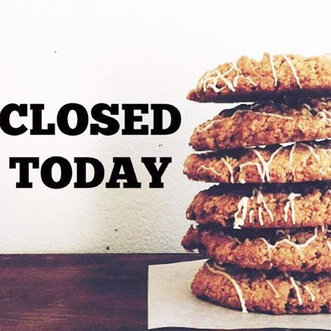 We will be closed today! Sorry for any inconveniences! We've got thousands of gingerbread men to make! (No joke) We'll see you tomorrow!