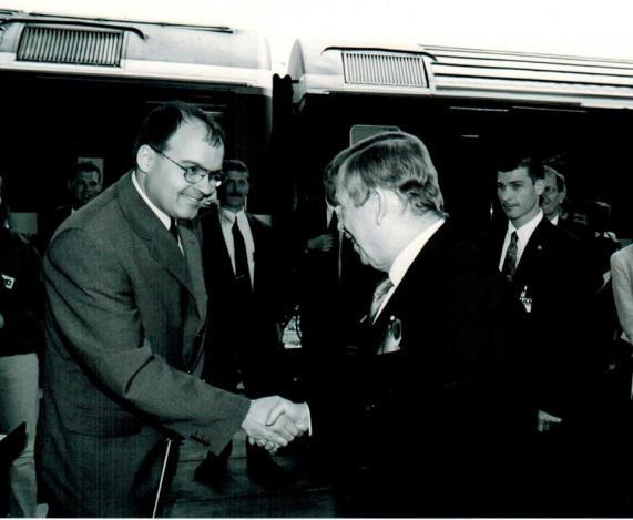 2001: Matthias Leuthold und Vasclav Havel