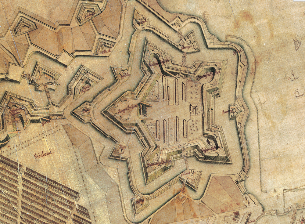 Detail of a map by Christian Gedde from 1761 in Stadsarchiv Copenhagen