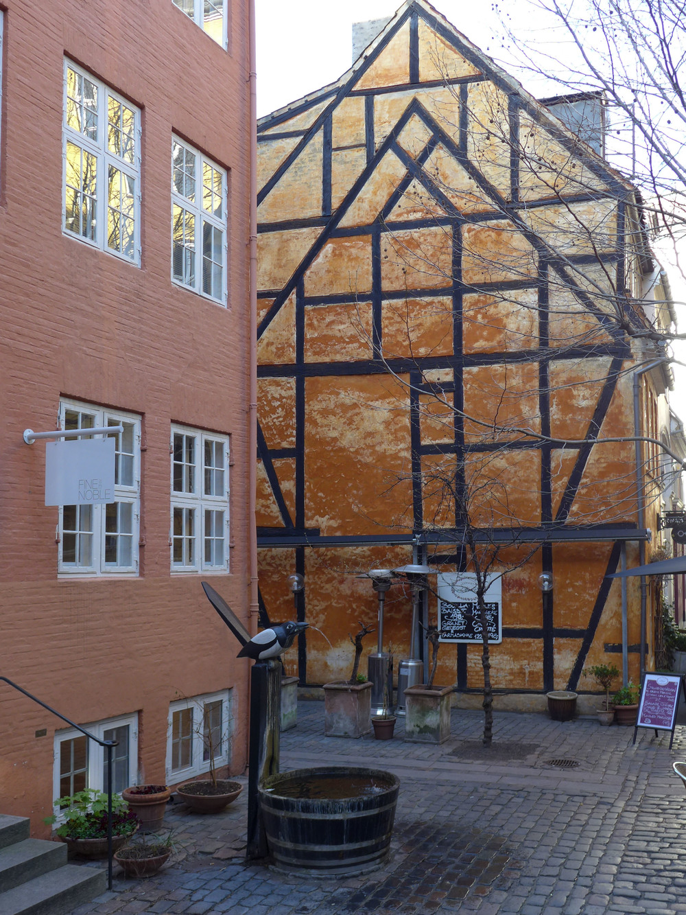 A gable end that shows that this building was heightened but in a much simpler way