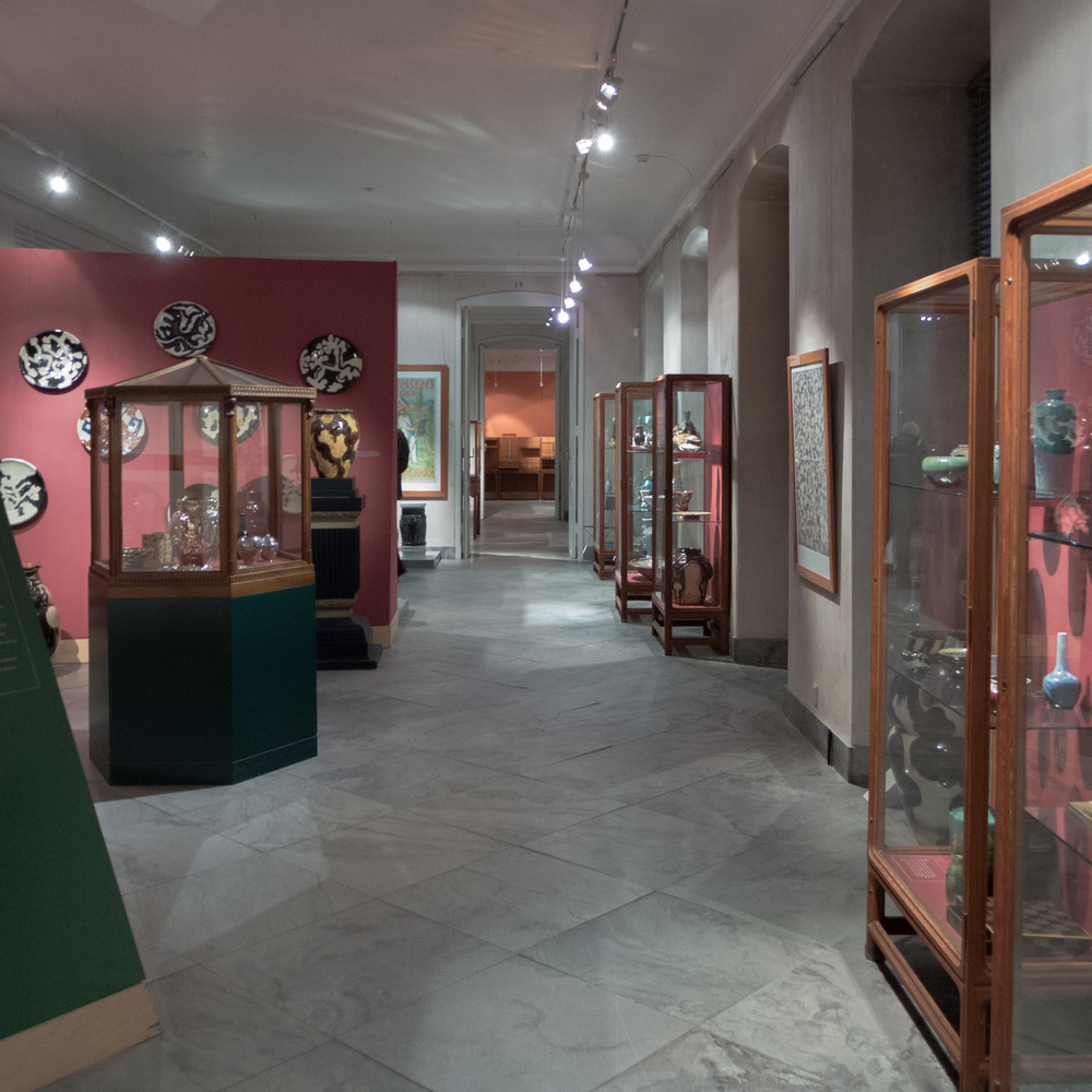 View of one of the galleries