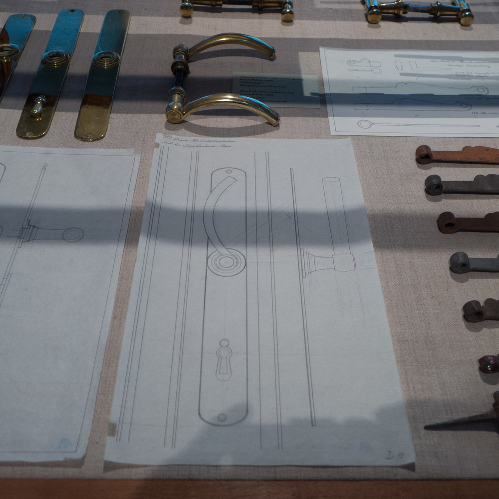 Drawings by Kaare Klint for door fittings