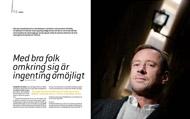 Intervju med Per Holknekt för tidningen Stiftelsen, oktober 2008.  Foto: Henrik Hansson