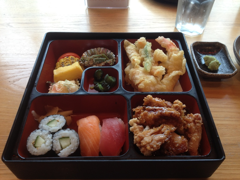 Bento box at Mount Fuji restaurant, Birmingham