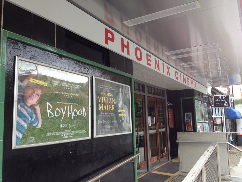 Outside the Phoenix cinema in East Finchley, London