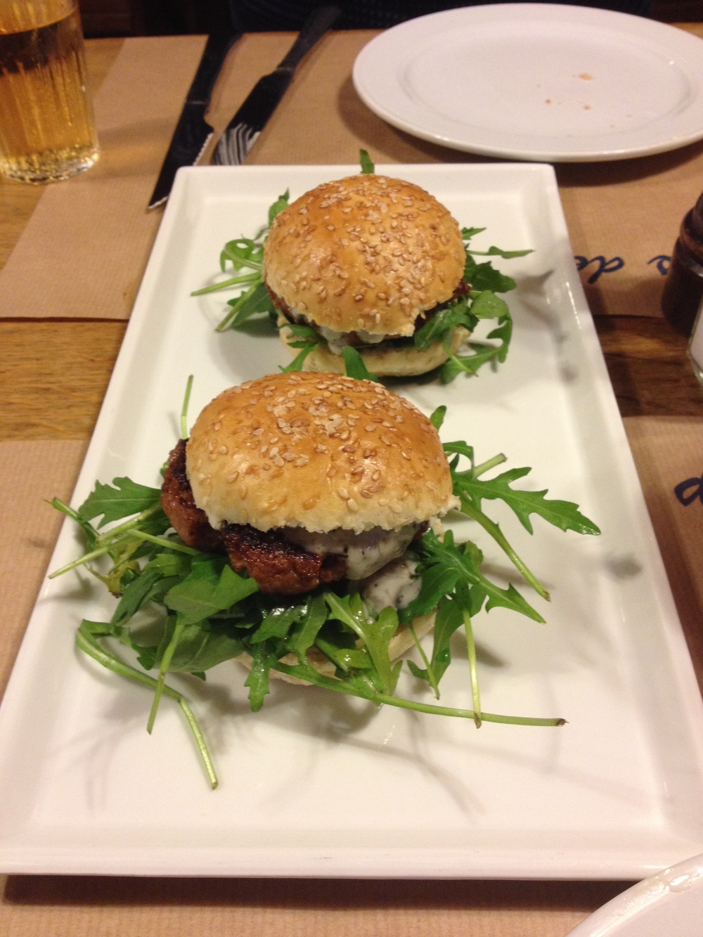 Veal burger starter (photo by Paul Forrester)