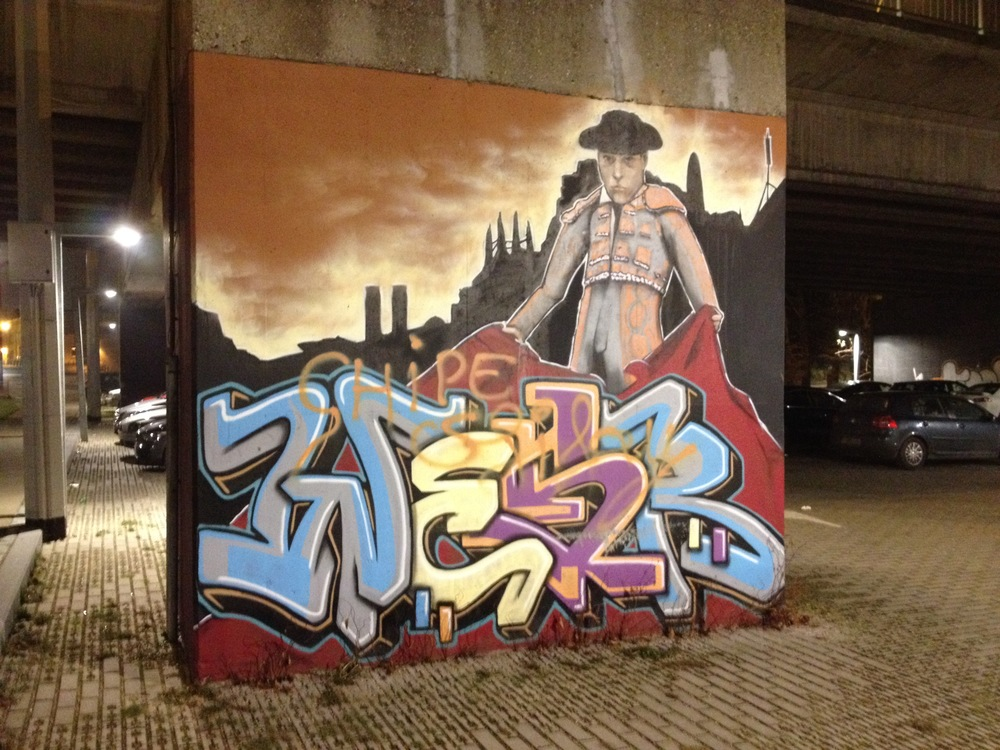 Graffiti in Vilvoorde (photo by Paul Forrester)