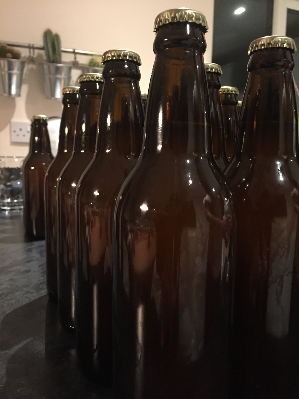 Our side project beer, bottled. Photograph by Paul Forrester.