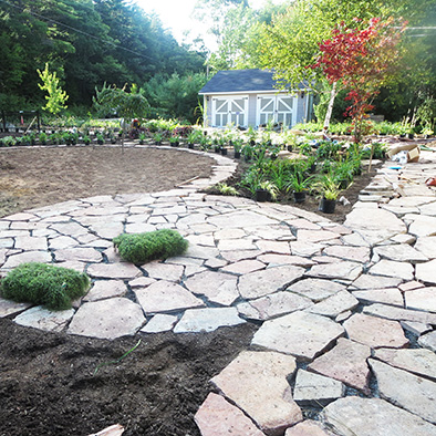 Mahone Bay Landscape Design - Circular Patio