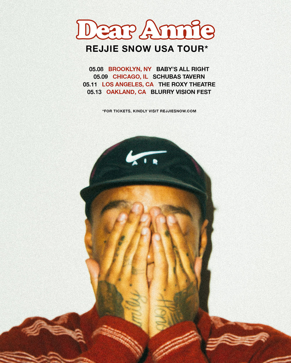 Rejjie Snow US Tour - Spring 2018