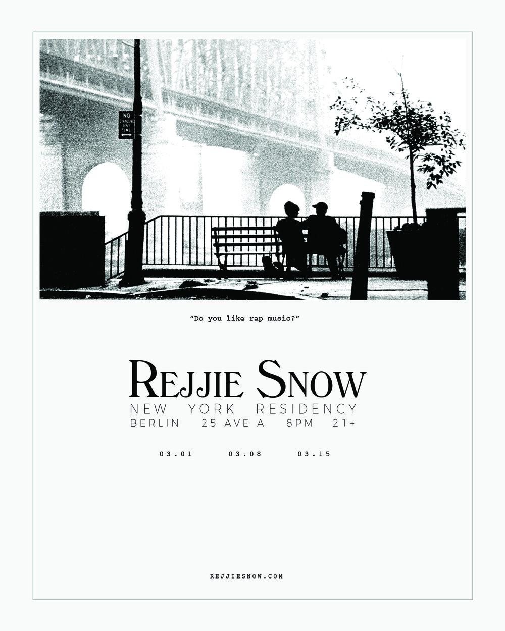 Rejjie Snow NYC Residency - March 2017