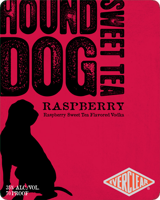 Hound Dog Sweet Tea Flavored Vodka - Rasberry Label.jpg
