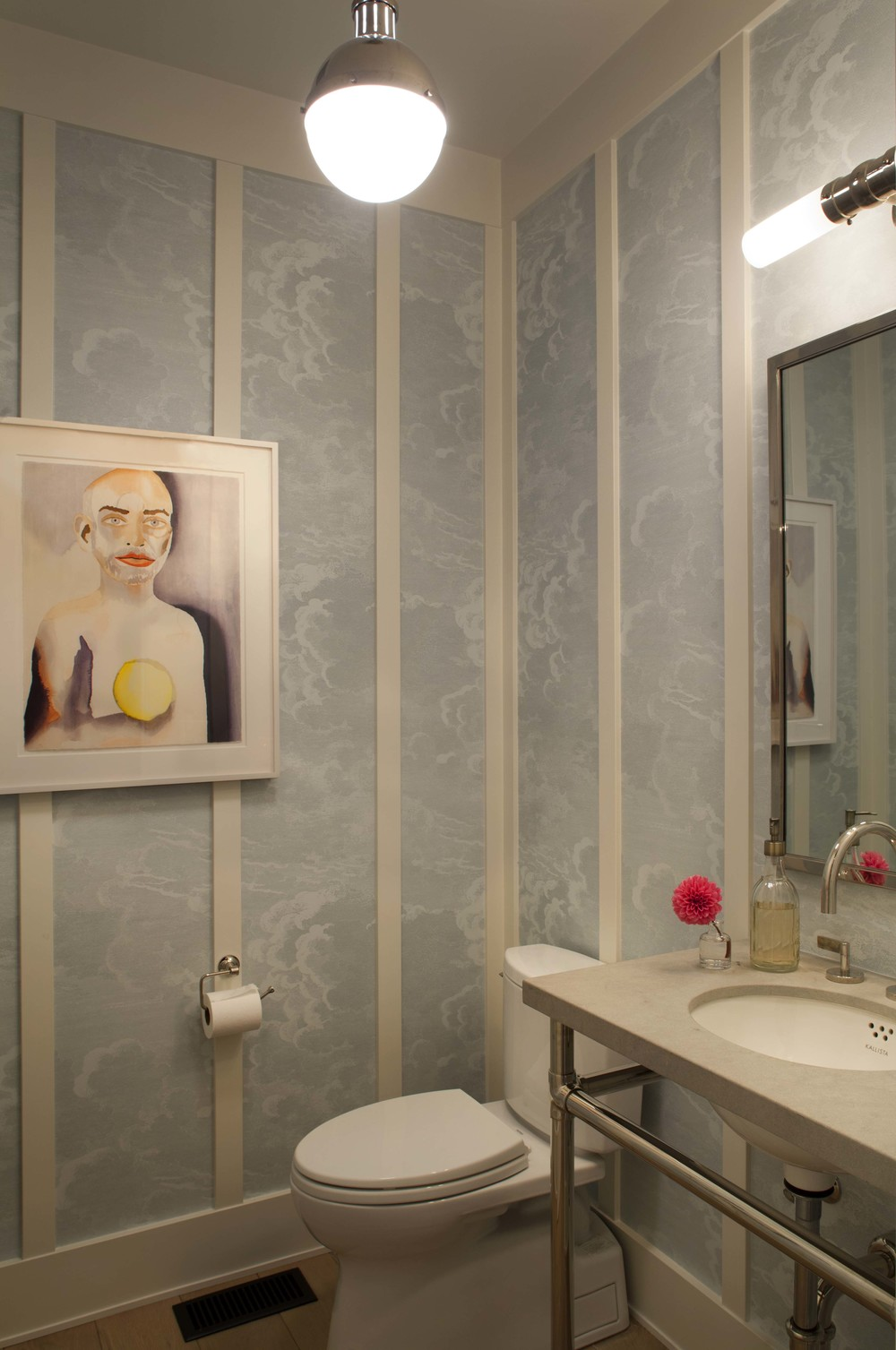 Modern Farmhouse: Powder room