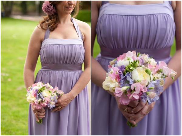 purple bridesmaids dress bridesmaids bouquet