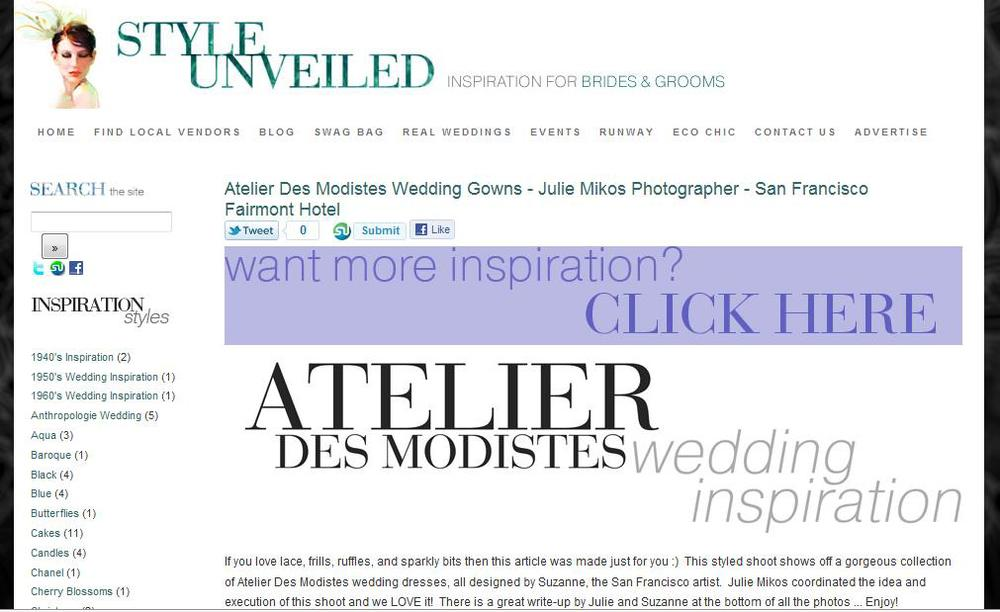 Style Unveiled Fairmont Hotel wedding fashion