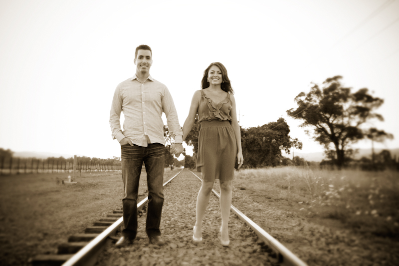 Yountville wine country engagement session 1