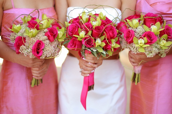 Pink and green bouquets a beautiful wedding color - Combination of green and pink ...