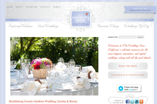 Featured - Weddign Row California