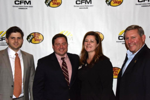 L to R:  Rehan Nana, Deputy Director of CFM, Brandon Butler, Executive Director of CFM, Susan Williams, MHHF Executive Director and Lee Vogel, MHHF Board President and Co-Founder