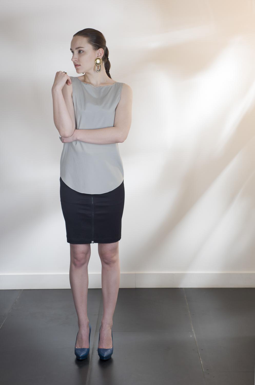 Zip Front Pencil Skirt — ANCLIFFE 5375682d2