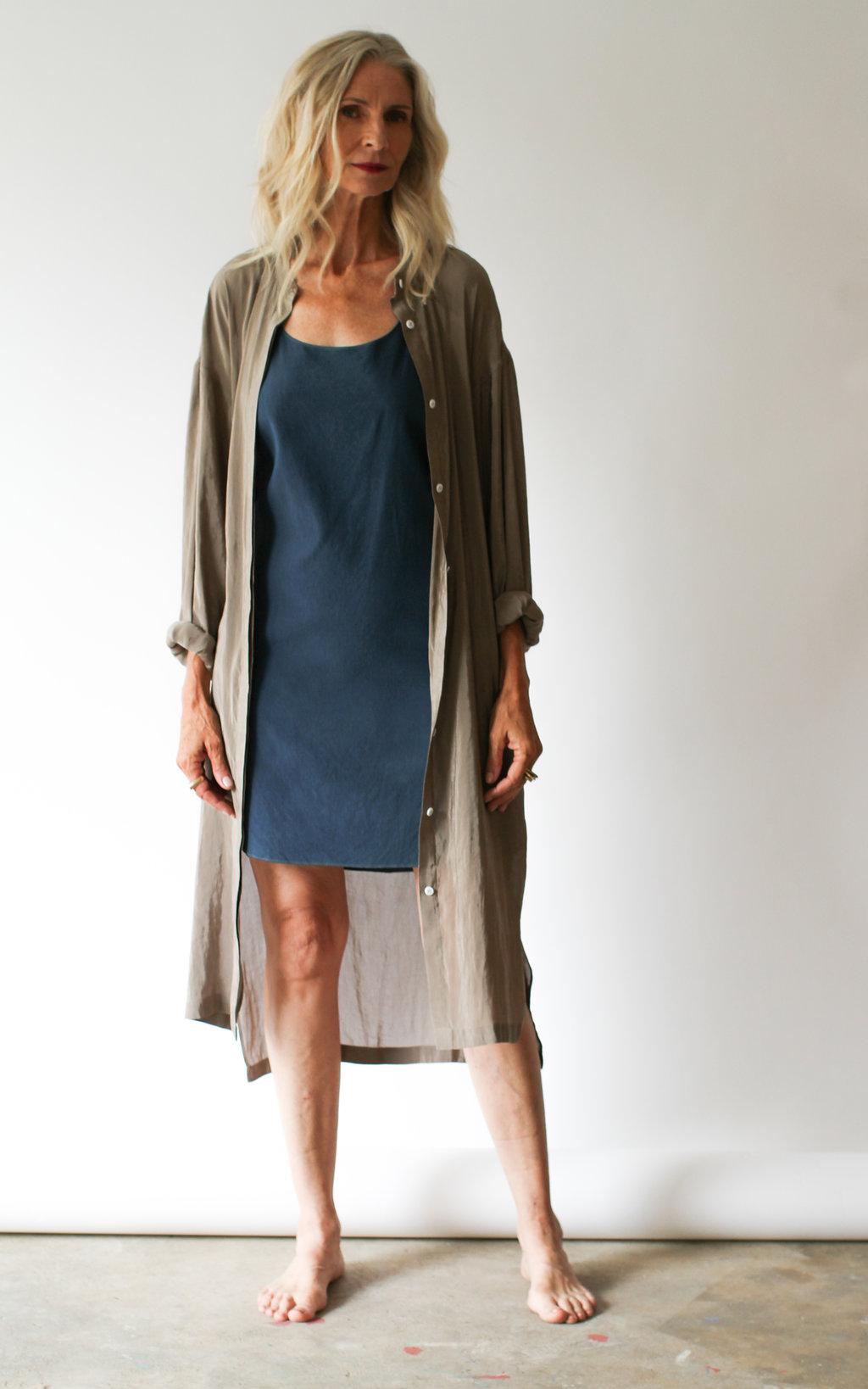 Silk Tank Dress — ANCLIFFE 97bea2a64